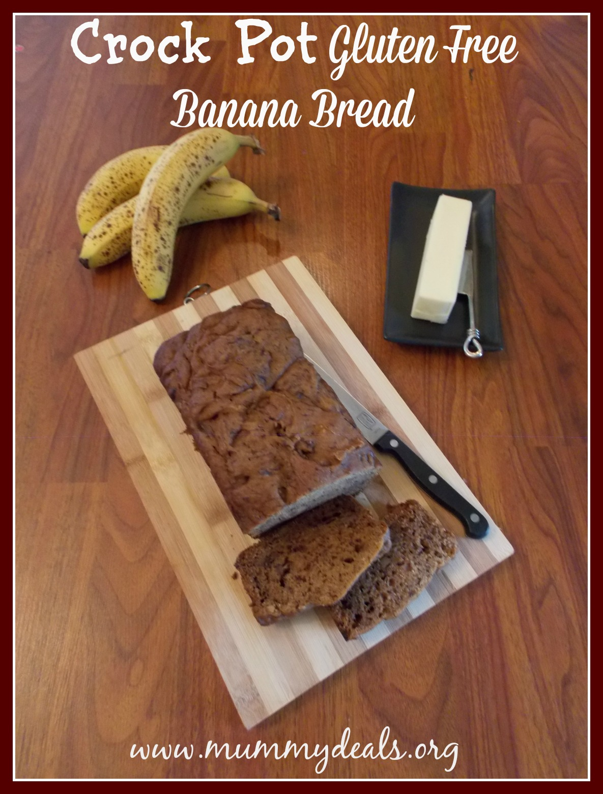 Crock Pot Gluten Free Banana Bread