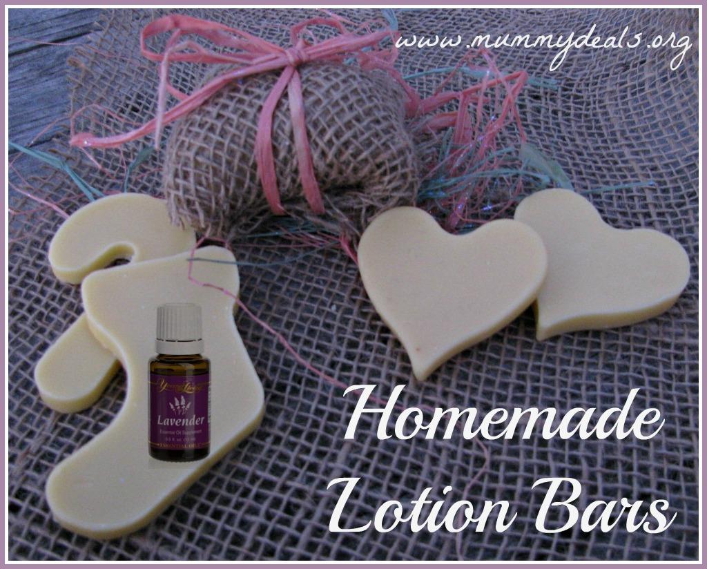 Homemade Lavender Lotion Bars