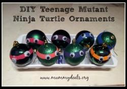 DIY Teenage Mutant Ninja Turtle Ornaments