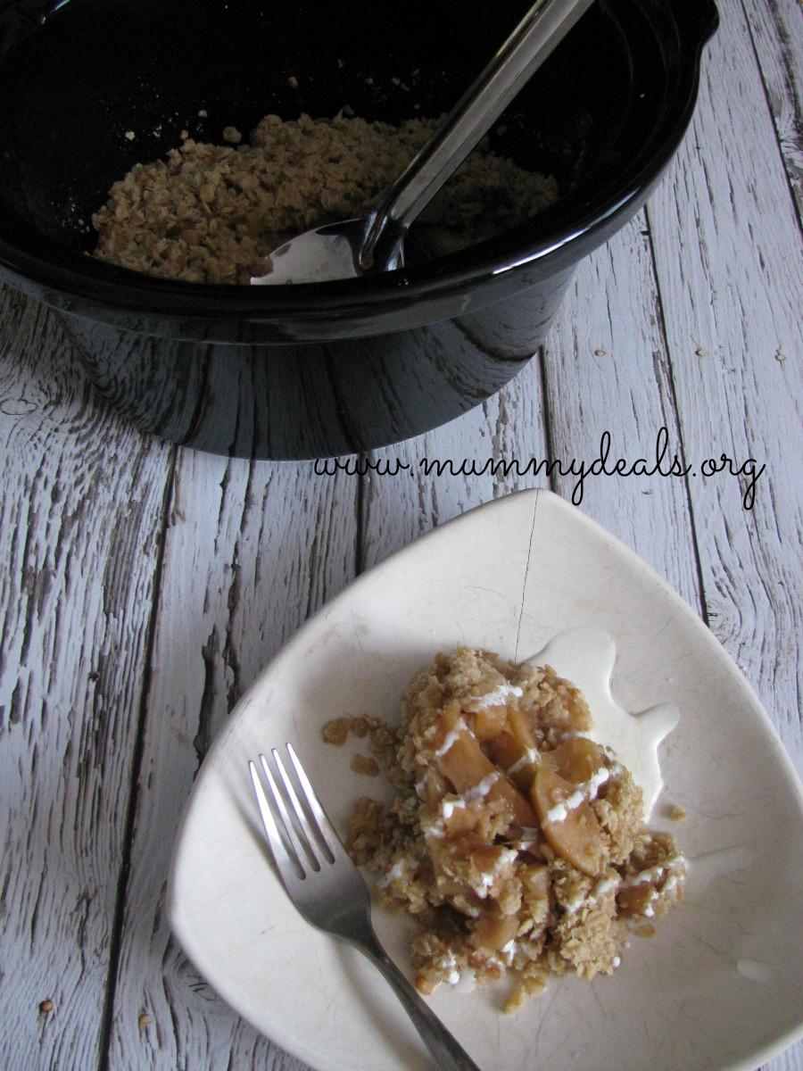Slow Cooker Praline Apple Crisp 2