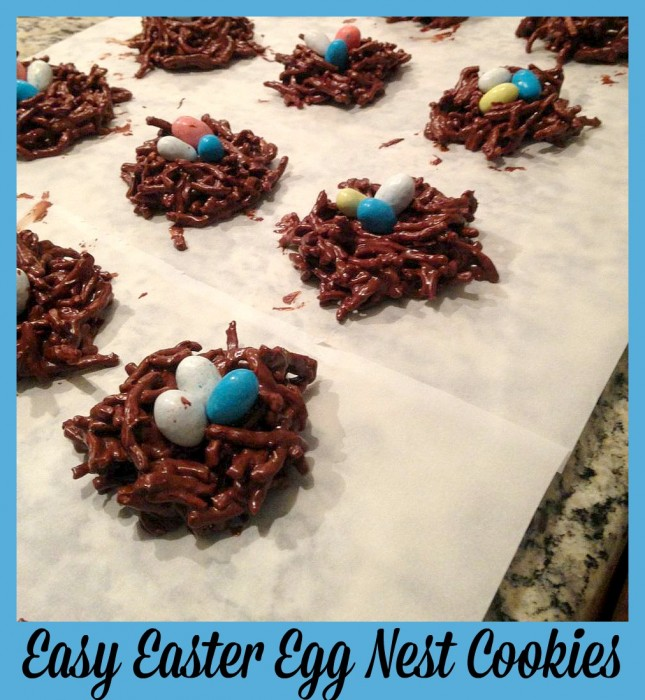 Easy Easter Egg Nest Cookies