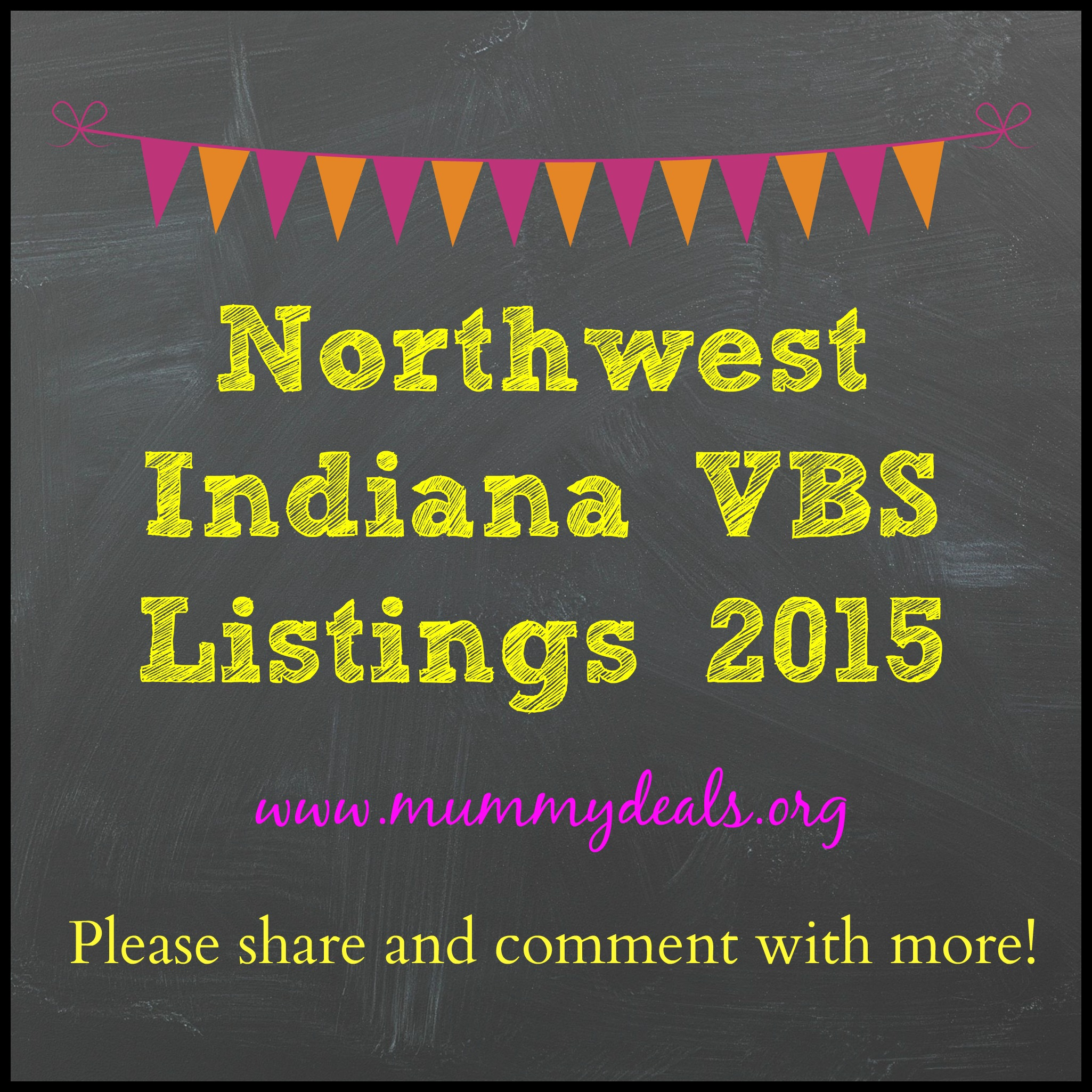 Northwest Indiana VBS Listings 2015