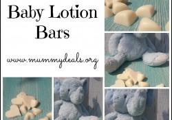 Homemade Baby Lotion Bars