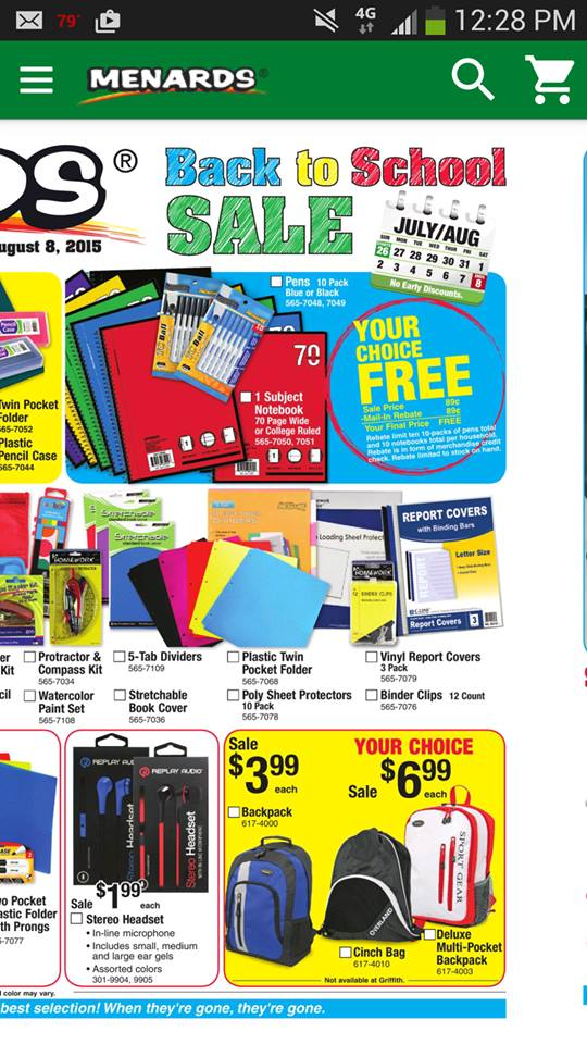 menards back to school sale 2015 free pens crock pot recipes slow cooker recipes party. Black Bedroom Furniture Sets. Home Design Ideas