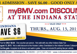 $6 Admission To The Indiana State Fair