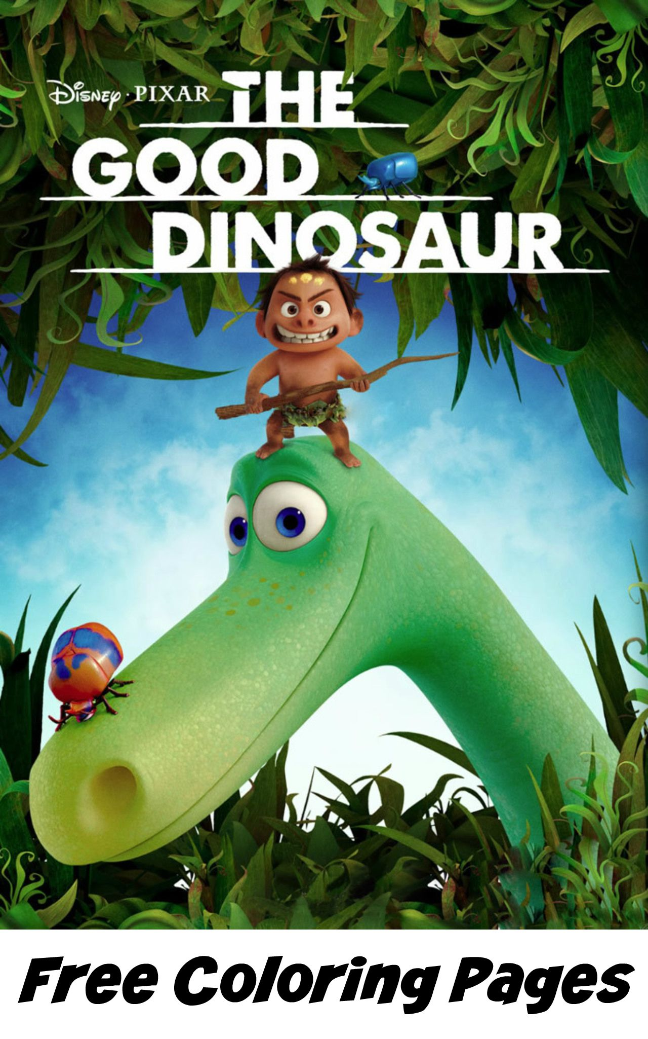 the good dinosaur free coloring pages