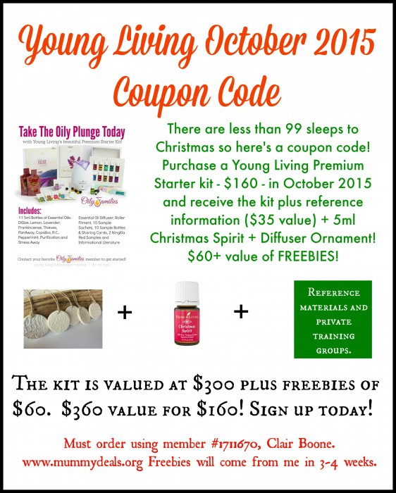 Young Living October 2015 promotion