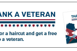 Veterans Receive A Free Hair Cut From Great Clips