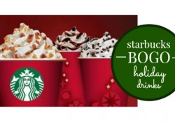 Starbucks BOGO FREE Holiday Drinks for 2015