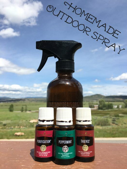 Headed outside this summer? Don't forget the homemade outdoor spray made with young living essential oils!