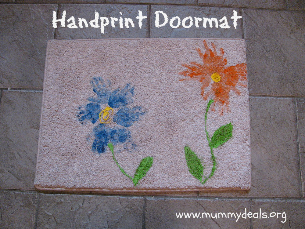 Doormat Mothers Day Craft For Kids Handprint Mat Mummy